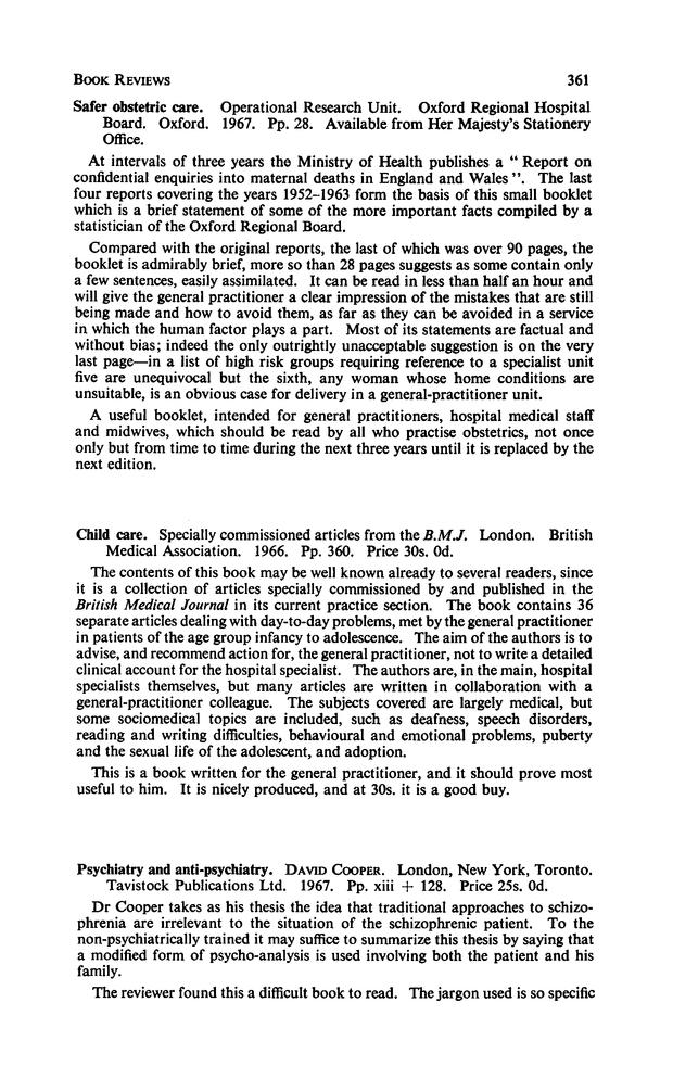 Psychiatry and anti-psychiatry | British Journal of General Practice