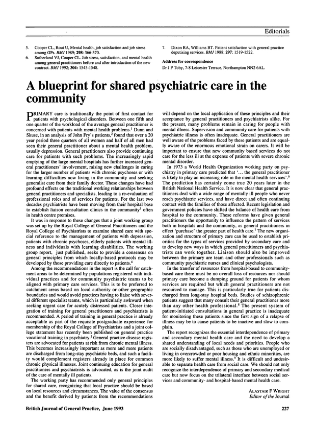 A blueprint for shared psychiatric care in the community british pdf extract preview malvernweather Images