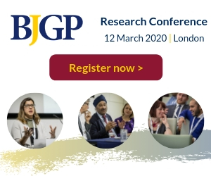 Register Now for the BJGP Research Conference, 12 March 2020