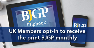 BJGP flipbook - opt in to receive print version