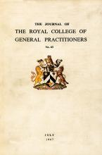 The Journal of the Royal College of General Practitioners: 15 (1)