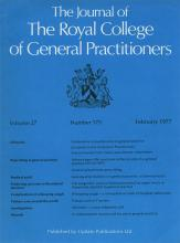 The Journal of the Royal College of General Practitioners: 29 (202)