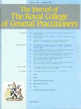 The Journal of the Royal College of General Practitioners: 38 (309)