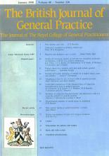 British Journal of General Practice: 40 (333)