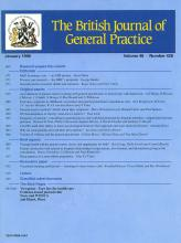 British Journal of General Practice: 50 (458)