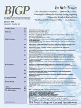 British Journal of General Practice: 54 (502)