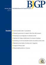 British Journal of General Practice: 60 (575)