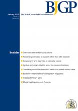 British Journal of General Practice: 60 (580)