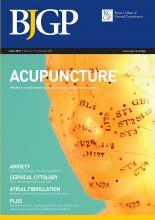 British Journal of General Practice: 61 (587)