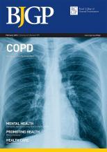 British Journal of General Practice: 62 (595)