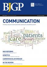 British Journal of General Practice: 62 (596)