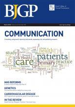 British Journal of General Practice: 62 (596)