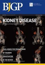 British Journal of General Practice: 62 (597)