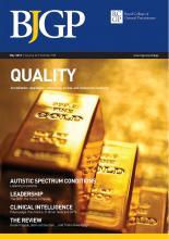 British Journal of General Practice: 62 (598)