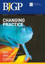 British Journal of General Practice: 63 (614)
