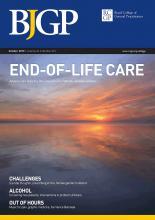 British Journal of General Practice: 63 (615)