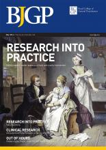 British Journal of General Practice: 64 (622)