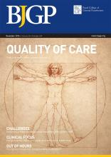 British Journal of General Practice: 64 (629)