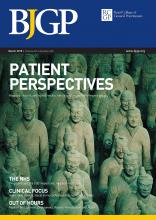 British Journal of General Practice: 65 (632)