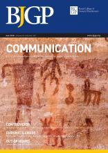 British Journal of General Practice: 65 (635)