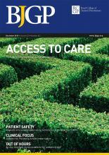 British Journal of General Practice: 65 (641)