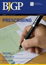 British Journal of General Practice: 66 (645)